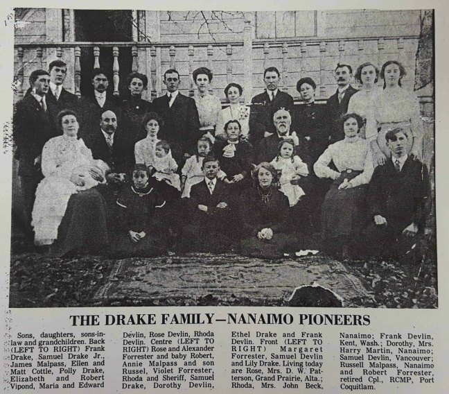 Samuel Drake and family, circa 1910
