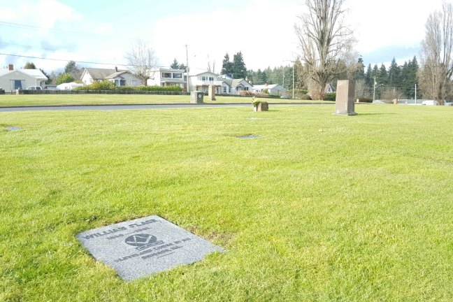 William Flack grave, Bowen Road Cemetery, Nanaimo, B.C.