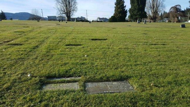 Adam G. Watson grave, Bowen Road Cemetery, Nanaimo, B.C.