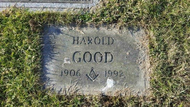 Harold Good grave marker, Bowen Road Cemetery, Nanaimo, B.C.