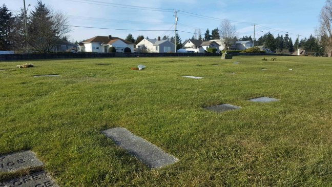 John W. Grey grave, Bowen Road Cemetery, Nanaimo, B.C.