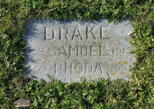 Samuel Drake grave marker, Bowen Road Cemetery, Nanaimo, B.C.