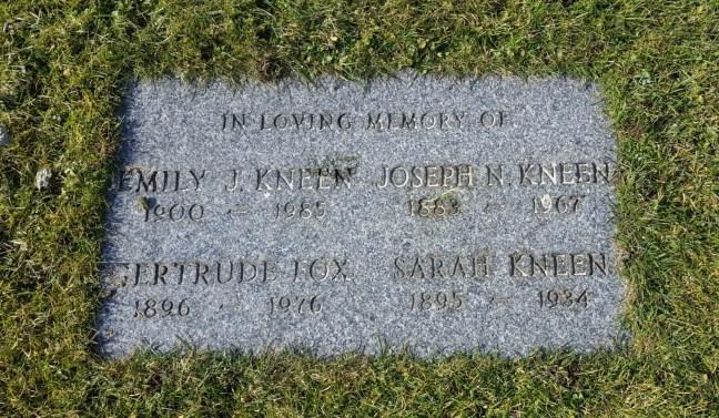 Joseph Kneen grave marker, Bowen Road Cemetery, Nanaimo, B.C.
