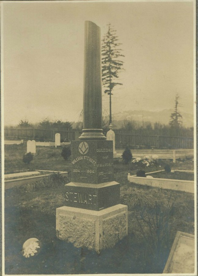 William Stewart grave, Bowen Road Cemetery. circa 1904 (photo courtesy of Rod Stewart, Calgary, Alberta)