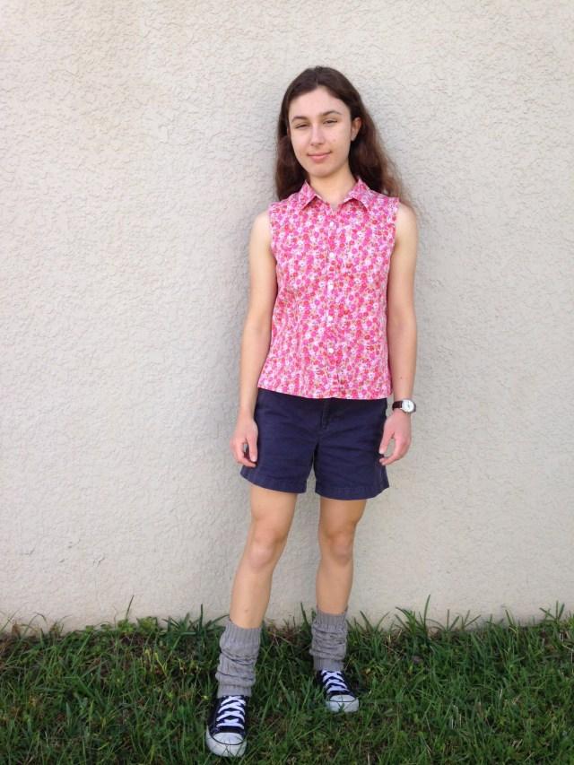Legwarmers & Floral Shirt