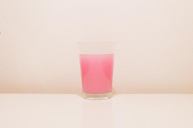 Pink beverage