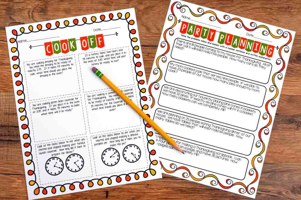 medium resolution of Thanksgiving Math Activities - Ashleigh's Education Journey