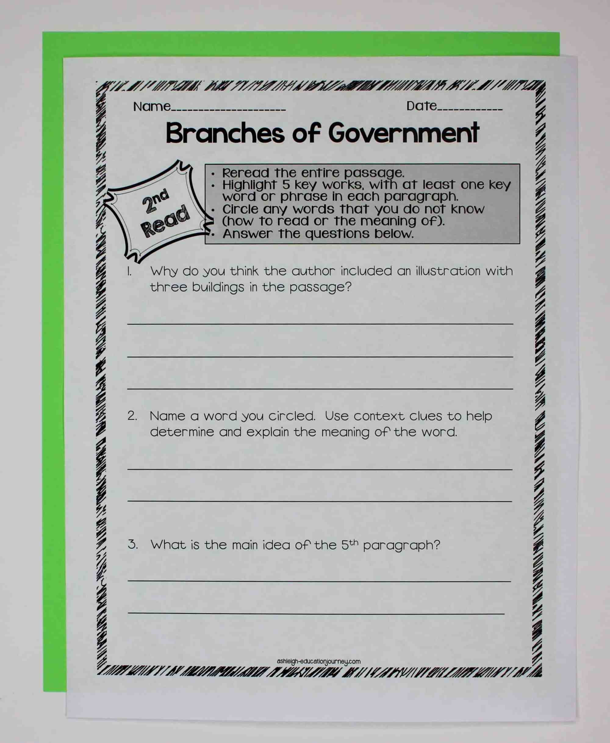 hight resolution of Government Close Reading \u0026 Interactive Notebook - Ashleigh's Education  Journey
