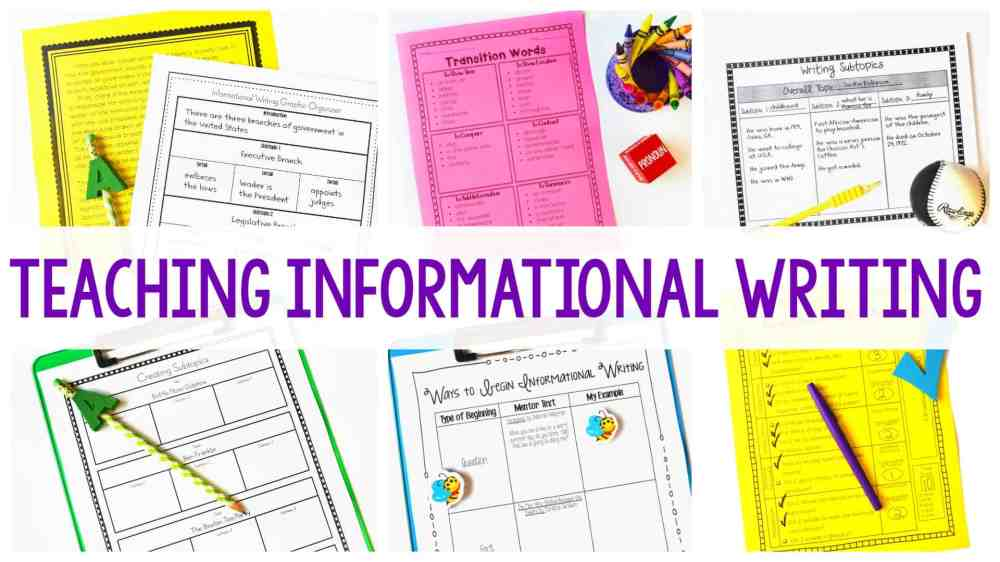 medium resolution of Informational Writing - Getting Started - Ashleigh's Education Journey