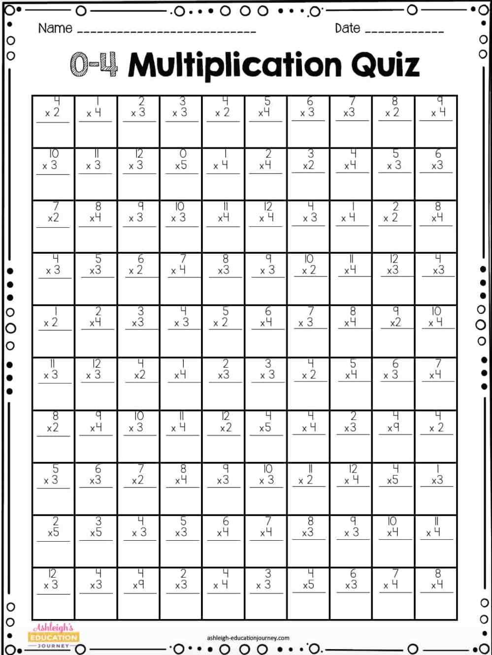 medium resolution of Multiplication Facts for Upper Elementary Students - Ashleigh's Education  Journey