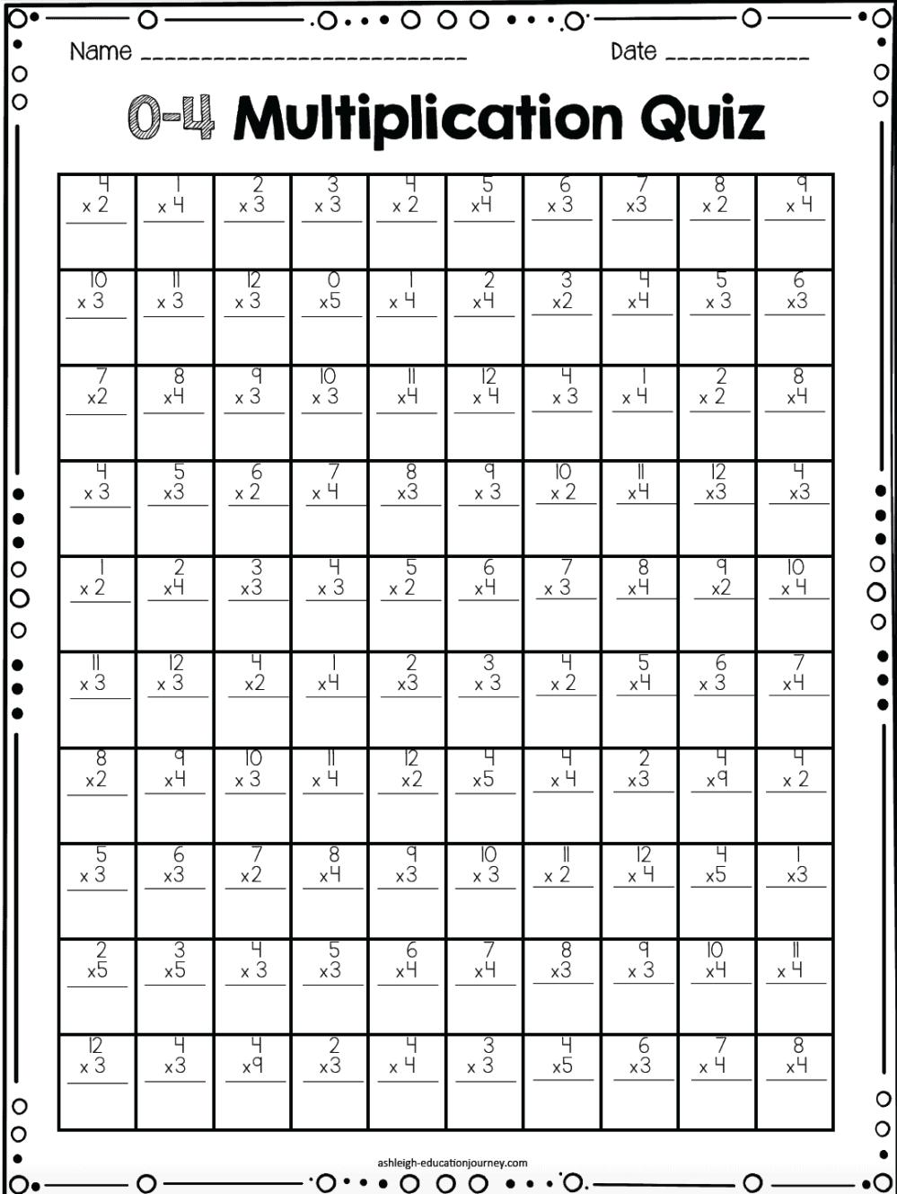 medium resolution of multiplication timed test - Ashleigh's Education Journey