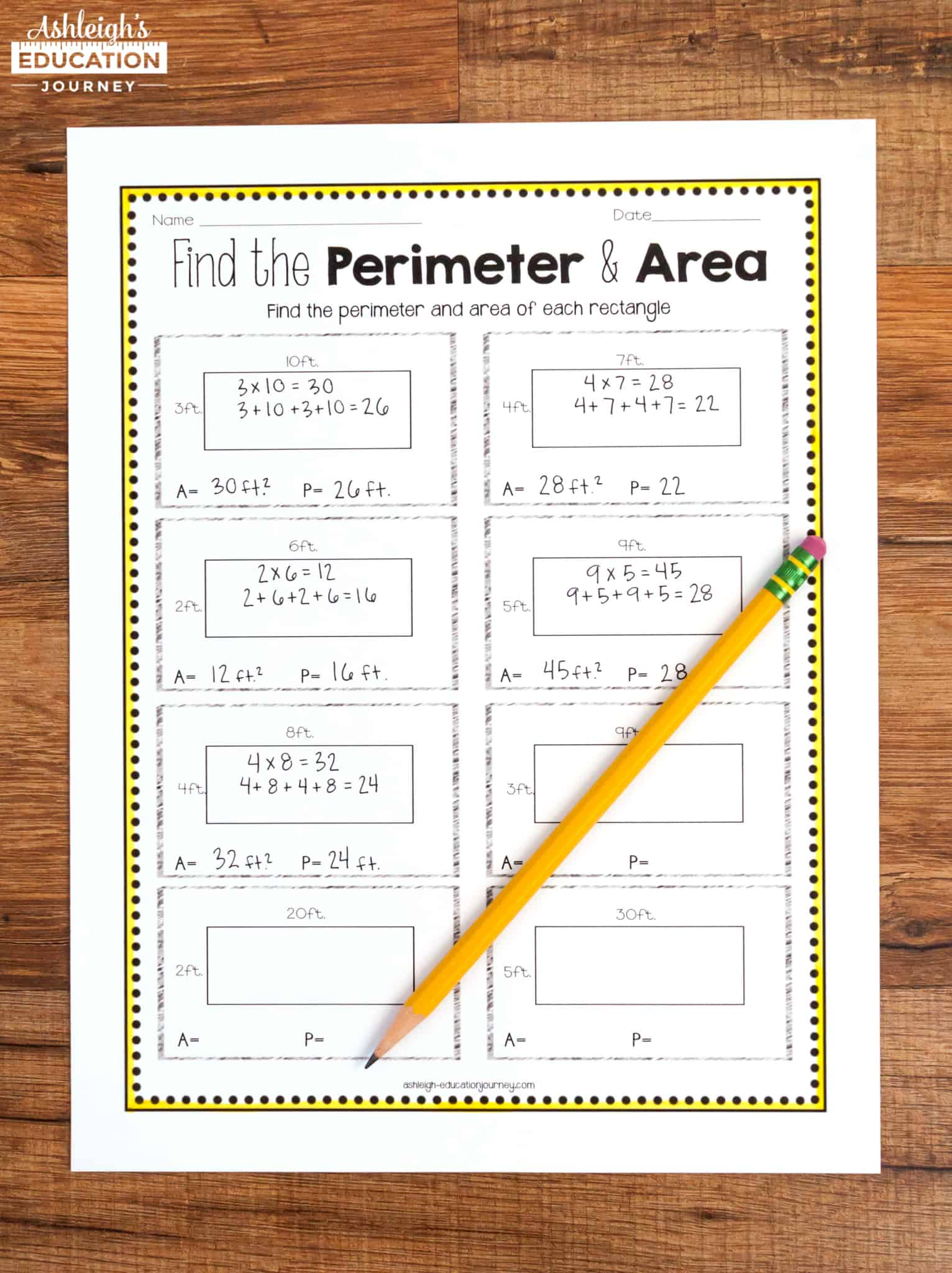 hight resolution of Teaching Area and Perimeter - Ashleigh's Education Journey