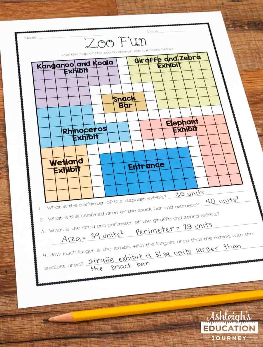 medium resolution of Teaching Area and Perimeter - Ashleigh's Education Journey