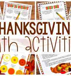 Thanksgiving Math Activities - Ashleigh's Education Journey [ 1080 x 1920 Pixel ]