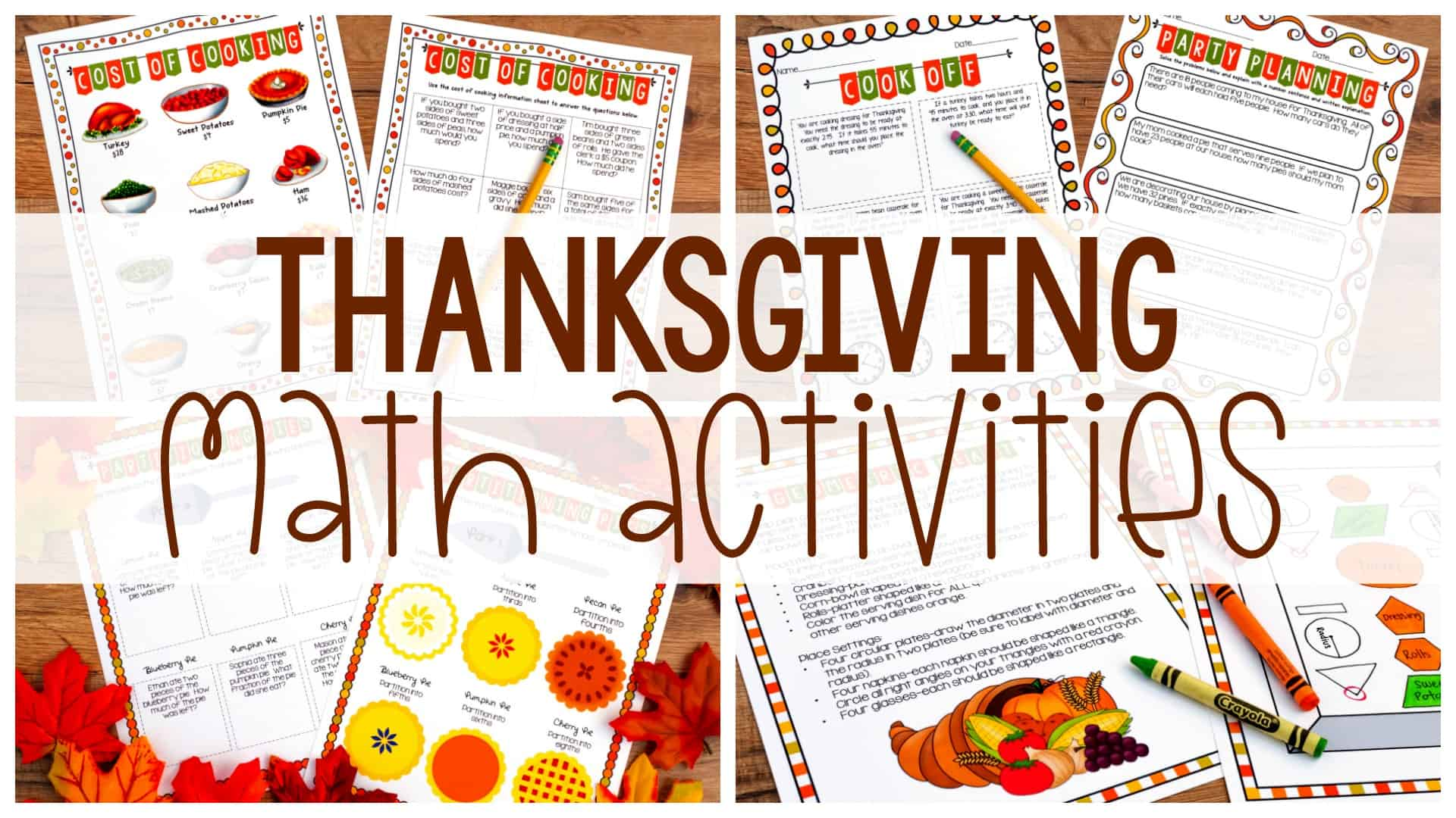 hight resolution of Thanksgiving Math Activities - Ashleigh's Education Journey