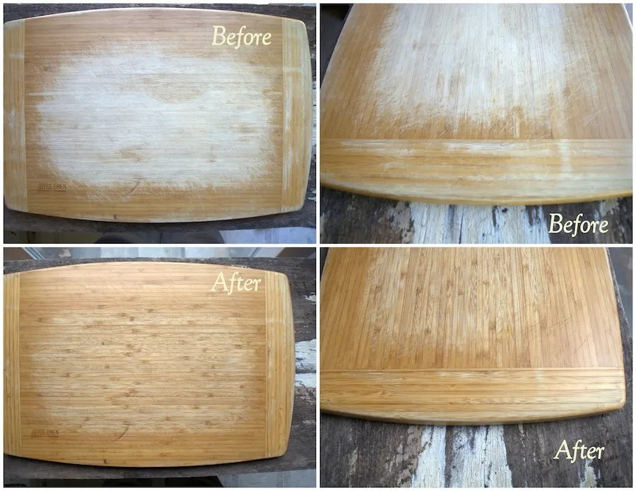 Cutting board - cutting board oil before after sm