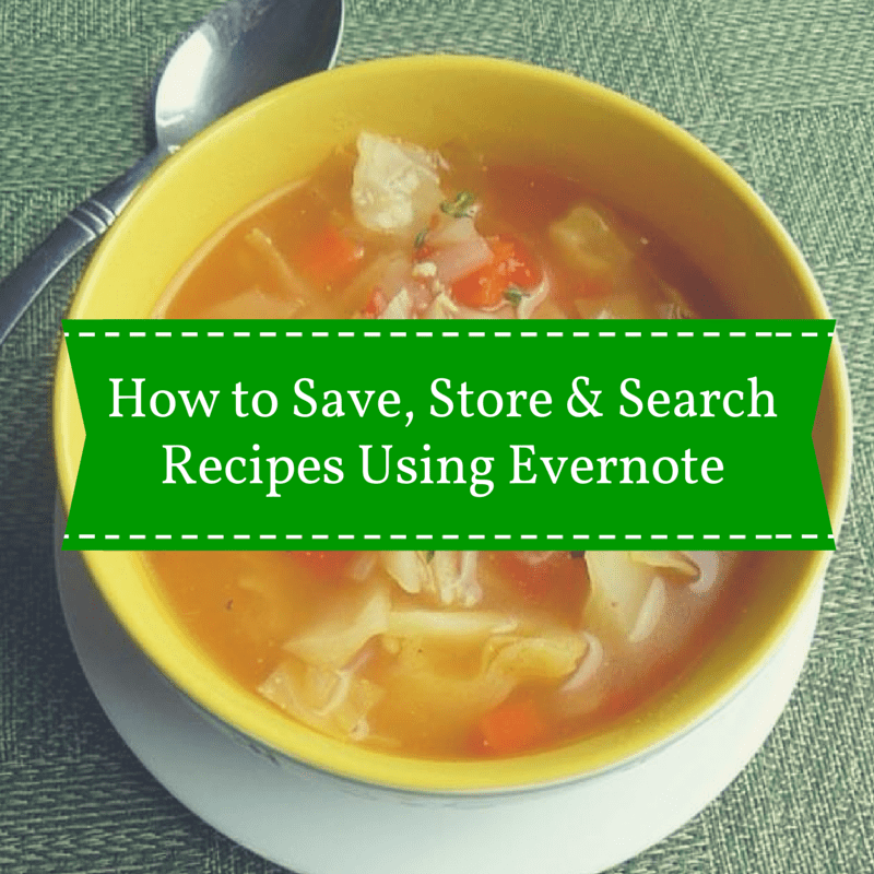 How to save, store and search recipes using Evernote