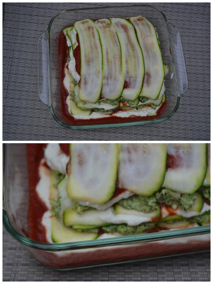 Zucchini and chicken lasagna coll