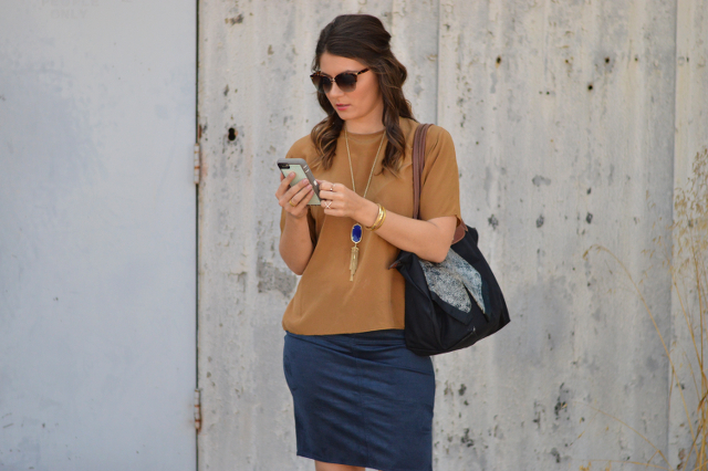 CUBICLE TO COCKTAIL: THE SUEDE SKIRT by Fashion in Flight