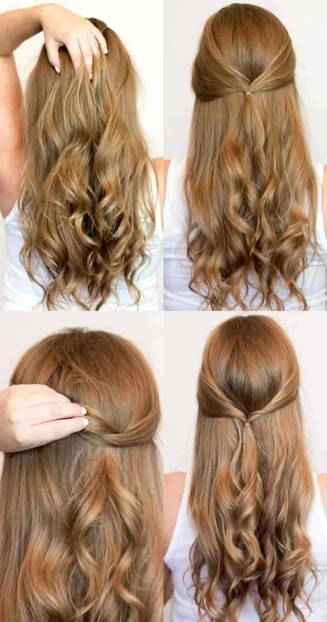 easy heatless hairstyles for long hair | ashley brooke nicholas