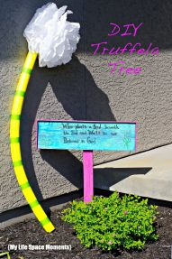 My DIY Truffela Tree with Plant a Seed Garden Sign - {My Life Space Moments}