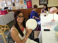 Balance a Plate, Draw the Bridal Gown ~ Bridal Shower Game| {My Life Space Moments}