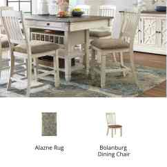 Dining Set With Bench And Chairs West Elm Bliss Chair Kitchen Room Furniture Ashley Homestore Rustic Farmhouse Bolanburg
