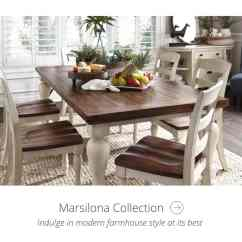 Dining Chair Covers In Spanish Office That Reclines For Naps Collections By Ashley Homestore Furniture Marsilona Collection