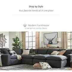 New Style Living Room Furniture Mirrored Shop By Home Furnishings Decor Ashley Homestore Modern Farmhouse A Spin Of Country Classics