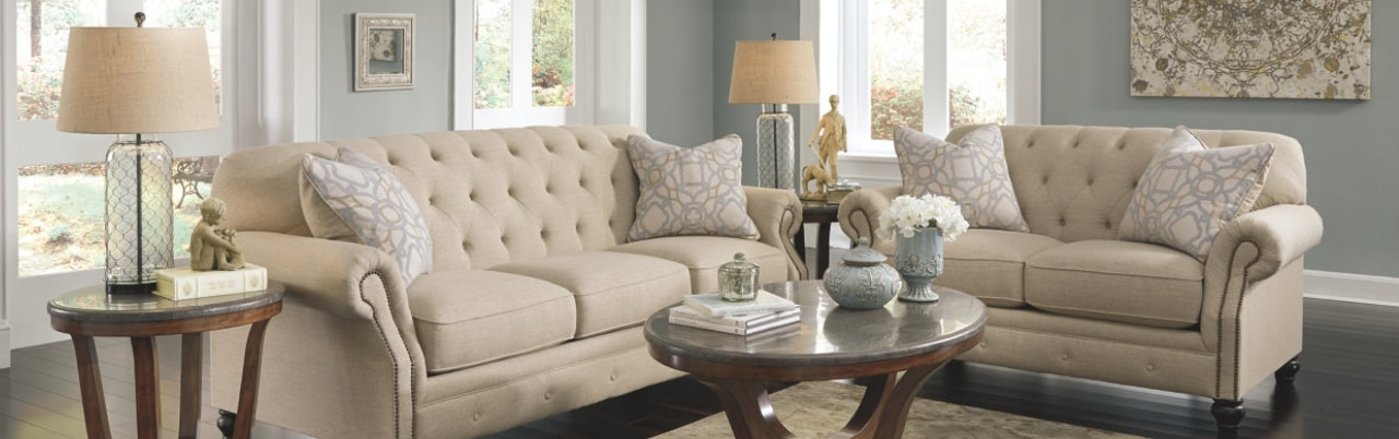online sofa set in dubai cheap leather sets toronto furniture ashley homestore shop for a white loveseat and within our living room collection from