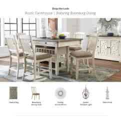 Ashley Furniture Dining Room Chairs Stair For The Elderly Kitchen Homestore Rustic Farmhouse Bolanburg