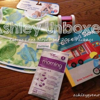 Ashley Unboxes:  Citrus Lane November 2014 Package (Ashley's first subscription box)
