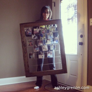 DIY Clothesline Picture Frame (Plans by Ana White)