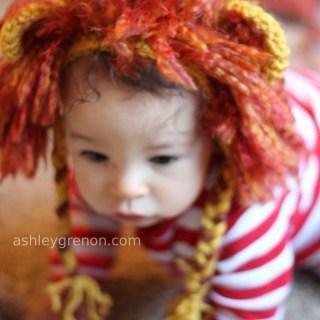 Crochet Lion Mane Bonnet