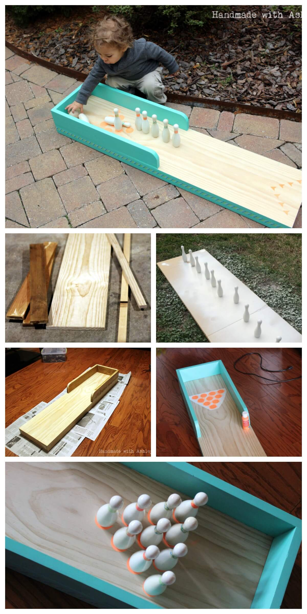 how to build a bowling lane