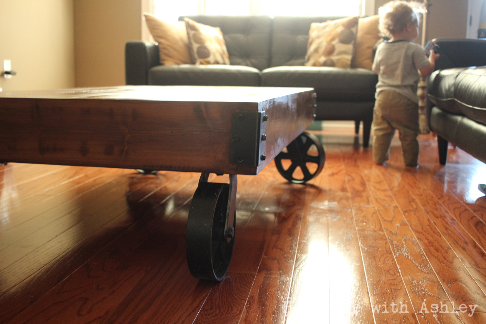 Diy Industrial Factory Cart Coffee Table Plans By Rogue