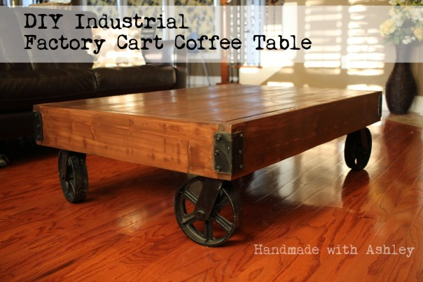 Ashley Makes: DIY Industrial Factory Cart Coffee Table