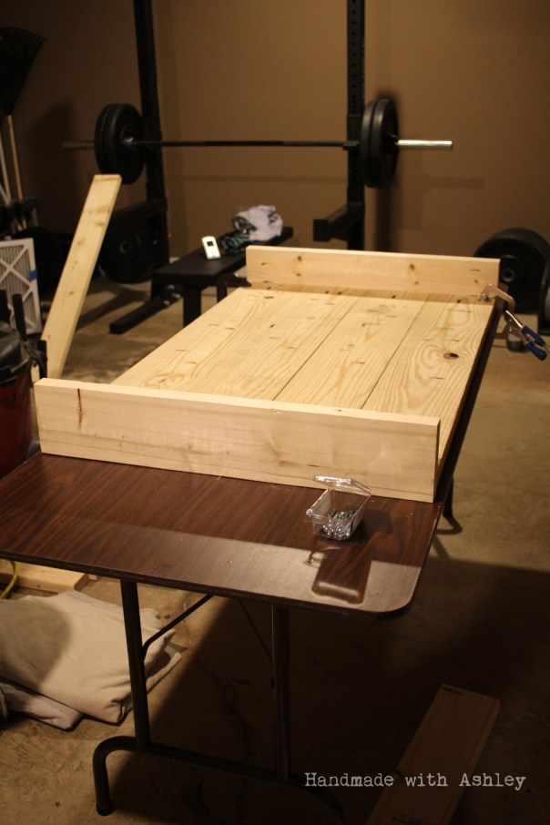 Adding the coffee table's frame