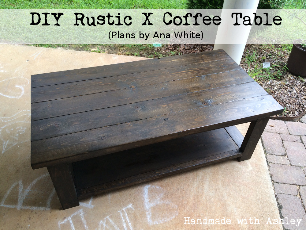 Coffee Table Plans.Diy Rustic X Coffee Table Plans By Ana White Handmade With Ashley