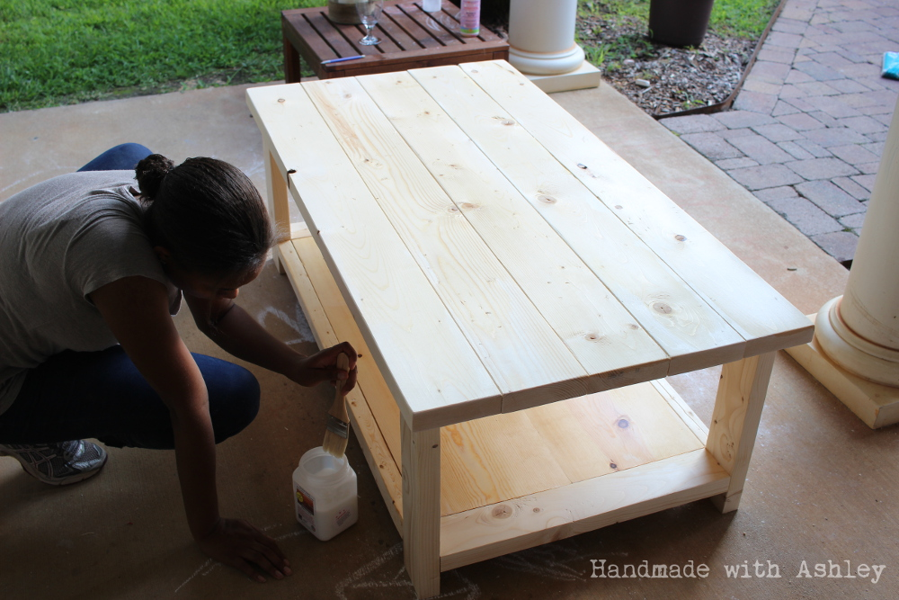DIY Rustic X Coffee Table Plans by Ana WhiteHandmade with Ashley