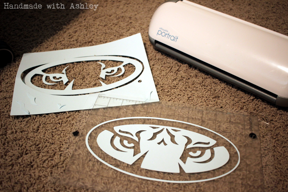 Auburn stencils with the Silhouette