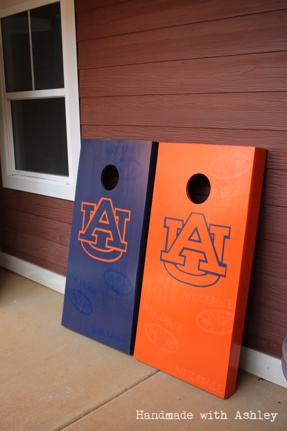 Diy Cornhole Board Handmade With Ashley
