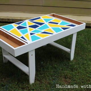 DIY Geometric Kids Art Table – September Fab Furniture Flippin' Contest Entry