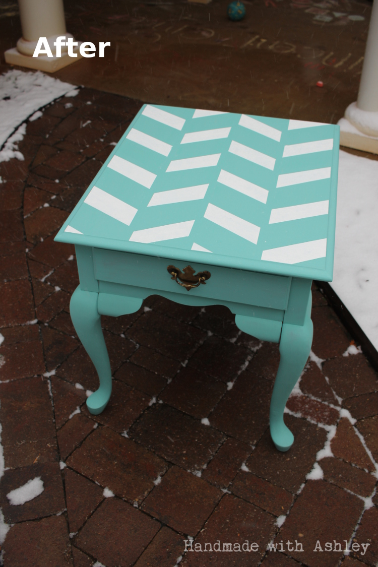 End table after makeover