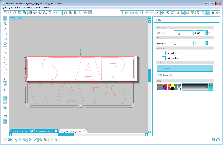 Creating the Star Wars stencil with the Silhouette Studio Editor