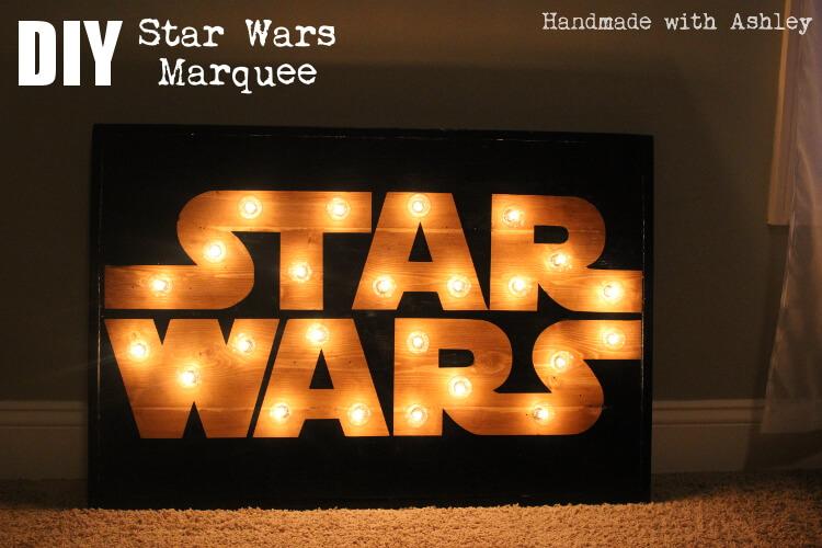 Preferred DIY Star Wars Marquee Wall Art Tutorial - Handmade with Ashley BD59