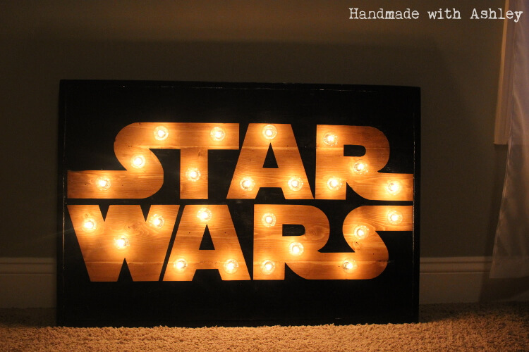 DIY Star Wars Marquee Wall Art Tutorial