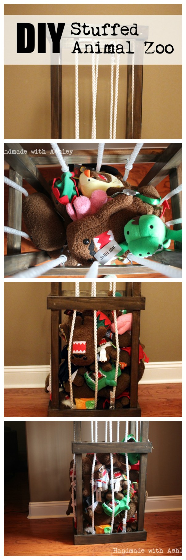 DIY Stuffed Animal Zoo Toy Storage