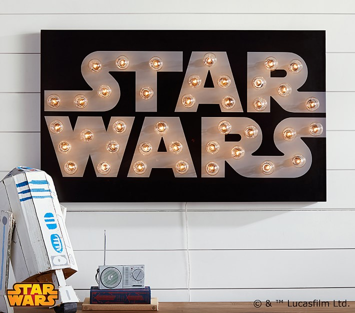 Pottery Barn Kids Star Wars Marquee Sign