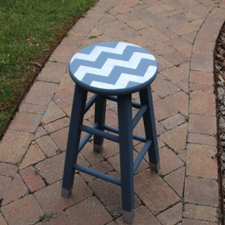 Chevron Barstool Makeover – May's FFFC